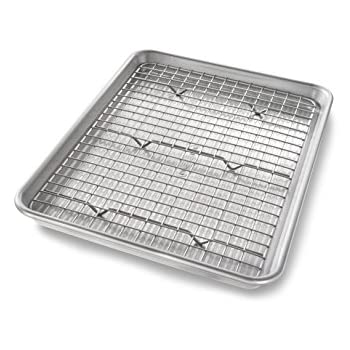 Amazon Com Checkered Chef Half Sheet Pan And Rack Set