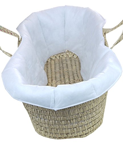 Basket Comfort Baby (BabyPrem Baby Moses Basket Quilted Liner for Comfort and protection 73-78 x 28cm)