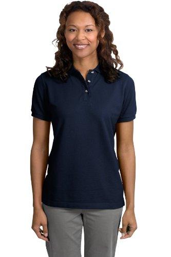 Port Authority Ladies Pique Knit Sport Shirt, 4XL, Navy