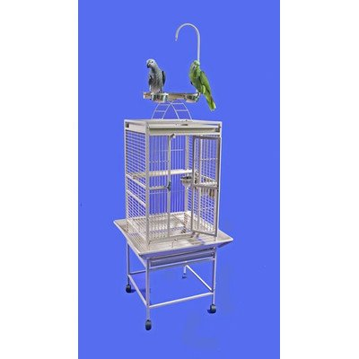 Medium Play Top Bird Cage Color: Platinum, My Pet Supplies