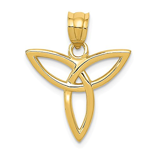 14k Yellow Gold Angel Symbol Pendant Charm Necklace Fine Jewelry Gifts For Women For -