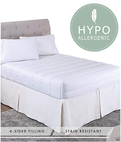 Perfect Fit | Luxurious Overfilled Mattress Pad / Topper with Magic Loft Fill Hypoallergenic & Stain Resistant (Queen)