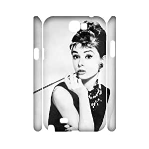 Audrey Hepburn Customized 3D Cover Case for Samsung Galaxy Note 2 N7100,custom phone case ygtg-785055