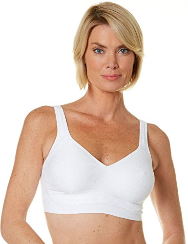 Playtex Women's 18 Hour Seamless Comfort Wirefree Bra, White Zebra Jacquard, 36C - Fashion Express Zebra