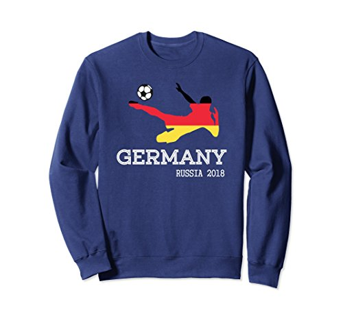 Unisex Germany National Soccer and Futbol Support Sweatshirt Small Navy