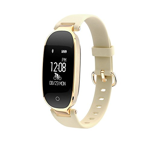 Nevoc Fitness Tracker, Smart Watch with Heart Rate Monitor, IP67 Waterproof Sport Tracker Swimming Activity Tracker for Kids Women Men (Gold) by Nevoc