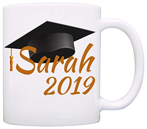 Personalized!! Graduation Cap Gifts Mug, Unique Grad Gifts for Men and Women Graduate Coffee Cup, Printed on Both Sides! ()