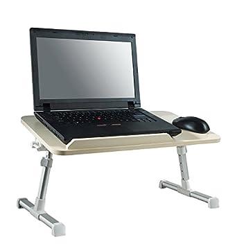 Mesita ajustable, ideal como bandeja para ordenador portátil, escritorio portátil