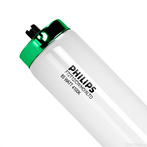 Philips Lighting 366518 T12 High Output Fluorescent Lamp 85 Watt R17d Recessed Double Contact Base 6350 Lumens 62 CRI 4100K 72 Inch Length Cool White Alto