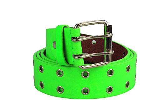 Alex Marrone in Lunghezza Cintura Xxl donne Bianco fino Designs per rivetto pelle Nero vera Row 2 a e con Neon Flittner Green uomini 135cm f6nfASwF