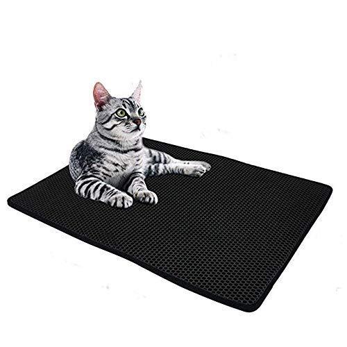 Foir Large Size Cat Litter Basin Cushion, Fur Animal Mat Cat pad, Pet Floor Mat, Kitty Double-Layer 2-Layer Sifting Easy…