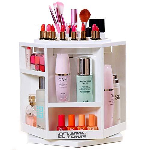 ECVISION Organizer 360%C2%B0Rotating Cosmetics Revolving