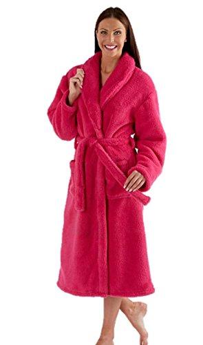 Bata polar de alta calidad, varios colores (rosa, morado)–talla 1012141618202224 De Color Rosa Oscuro
