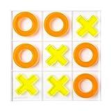 SunnyLIFE Lucite Tic Tac Toe Neon Orange