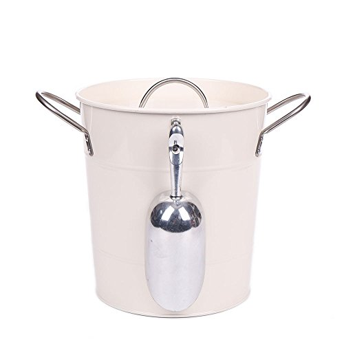 enamel bucket with lid - 1