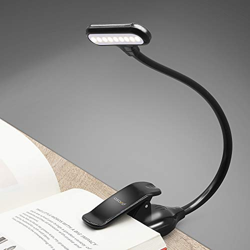 OSORD Book Reading Light Rechargeable【New Version】Clip on Reading Lights for Book in Bed, Wide Lighting Design with Touch Switch, Dimmable Brightness & 3 Color Modes for Bookworms & Kids by OSORD