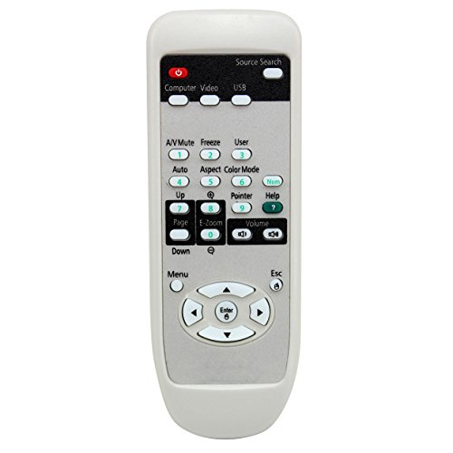 ESolid 1515068 Replacement Remote Control for Epson EX31 EX51 EX5200 EX3200 EX71 EX7200 PowerLite 1220/1260/ S7/ S9/ W7/ X9, VS200 Projectors