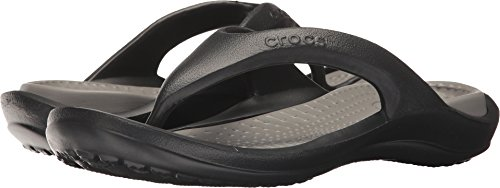 crocs Athens Flip Flop, Black/Smoke, 11 US Men / 13 US Women
