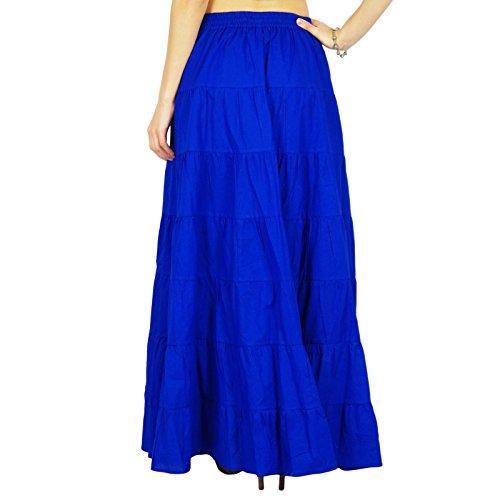 Wear Royal Beach Bleu Cotton Jupe Longue Wear Summer Phagun Vtements fYqBP1