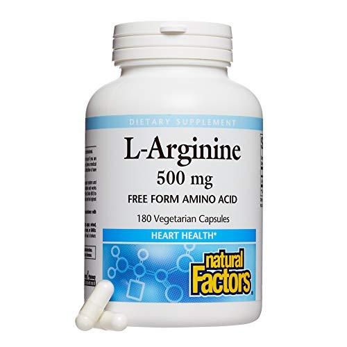 Natural Factors - L-Arginine, Supports Muscle Metabolism, 180 Vegetarian Capsules by Natural Factors