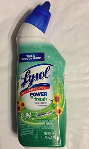 Lysol Power & Fresh Cling Gel Country Scent Toilet Bowl Cleaner 8oz (3 Pack)