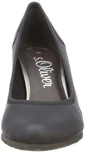 Tacón s Oliver 21 Mujer para 22404 805 Zapatos Navy Azul de 7XBB6FqW