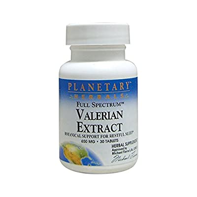 Planetary Herbals Valerian Extract Full Spectrum 650 mg 30 Tabs