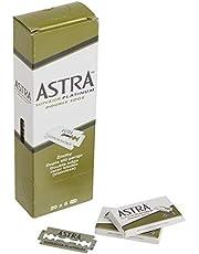 Astra Platinum Double Edge Safety Razor Blades ,100 Blades (20 x 5)