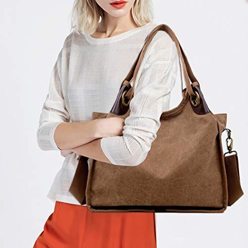 Vintage Moda Tracolla Casual Borsa Multiuso Coafit Brown A XqvwaIBxU