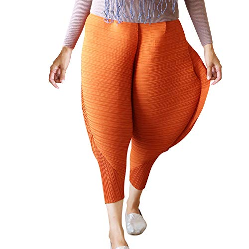 Birdfly Unique Us Fashion Womens Chicken Leg Pants Novelty Solid Loose Pants Leggings Plus Size 2L 3L 4L (L, Orange)]()