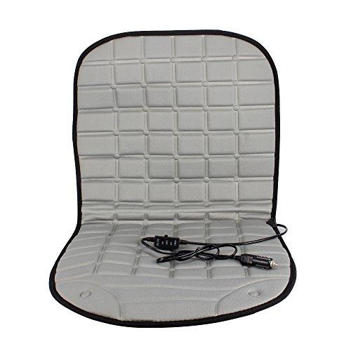 KONKY Car Heated Seat Heating Cushion Auto 12V Hot Cover Warmer Pad, Gray (Ky Heating)