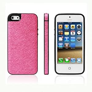 Ultrathin Silk Grain Design Hard Back Case Cover For iPhone 5 --- Color:Blue
