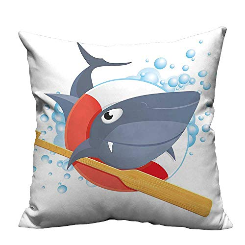 (YouXianHome Pillowcase with Zipper in Lifebuoy Wooden Paddle Bubbl Cute Animal Ultra Soft & Hypoallergenic (Double-Sided Printing) 20x35.5 inch)