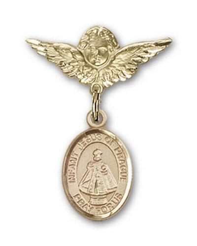 Icecarats Or Bijoux De Créateurs Infantile Rempli De La Broche Badge Prague Charme D'Ange 1 X 3/4
