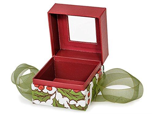 Christmas Presentation Boxes - Bulk Holly Berry Tidings Petite Square (Tidings Ribbon)