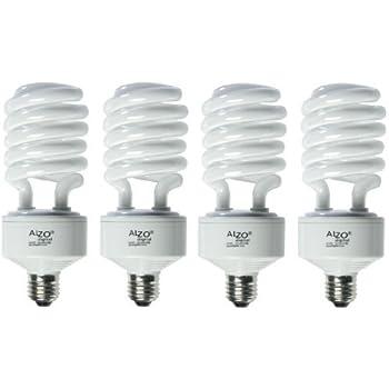 ALZO 45W Joyous Light Full Spectrum CFL Light Bulb 5500K, 2800 ...:ALZO 45W Joyous Light Full Spectrum CFL Light Bulb 5500K, 2800 Lumens,  120V, Pack of 4, Daylight White Light,Lighting