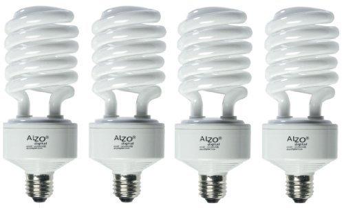 ALZO 45W Joyous Light Full Spectrum CFL Light Bulb 5500K, 2800 Lumens, 120V, Pack of 4, Daylight White Light