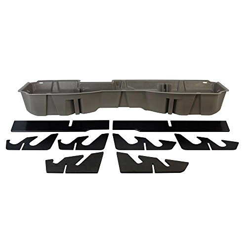 Under Seat Storage Unit for Chevrolet and GMC 1500 Crew Cab 2014-2015 and HD Crew Cab 2015 in Dune/Tan