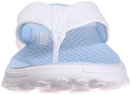 SkechersGo Walk Nestle - sandalias mujer Blanco - White (Wlbl)