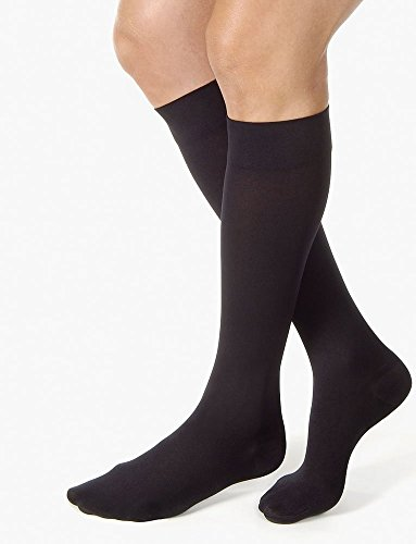 JOBST Relief Knee High 20-30 mmHg Compression Socks, Closed Toe, Black, Petite ()