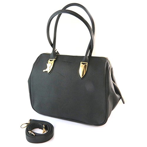 Bag designer Lollipopsserpente nero - 34x24x16 cm.