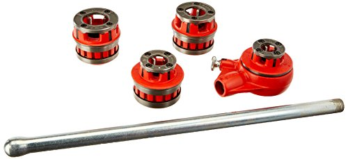 RIDGID 36480 12-R Exposed Ratchet Threader Set, Ratcheting Pipe Threading Set of 1/2-Inch to 1-1/4-Inch NPT Pipe Threading Dies and Manual Ratcheting Pipe Threader with Carrying Case Pipe Threading Set