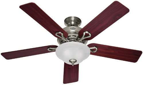 Hunter Fan Company Hunter 53047 Transitional 52 Ceiling Fan from Kensington collection in Pwt, Nckl, B S, Slvr. finish, Inch, Brushed Nickel