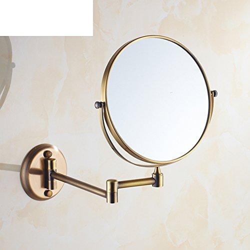 Bathroom Vanity Mirror/Antique Brass Retractable Mirror/ Wall Mounted  Folding Mirror/Bathroom