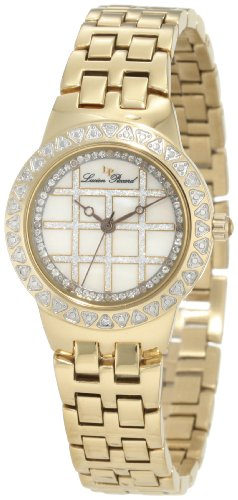 Lucien Piccard Women's 28105YL Diamond Accented White Mother-Of-Pearl Gold Tone Ion-Plated Stainless Steel Watch