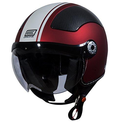 Origine O528 Pilota 3/4 Helmet (Flat Red, Small) (White Gara) (Vespa Helmet White)