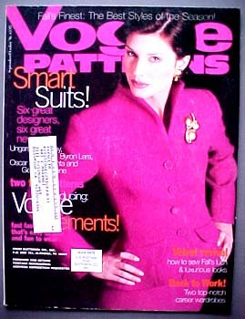 Vogue Patterns September/October 1996 Issey Miyake, Ungaro, Bill Blass, Oscar de la Renta, Beene, Givenchy