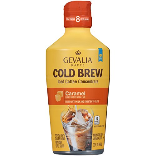 Gevalia Caramel Cold Brew Iced Coffee Concentrate (32 oz Bottle)