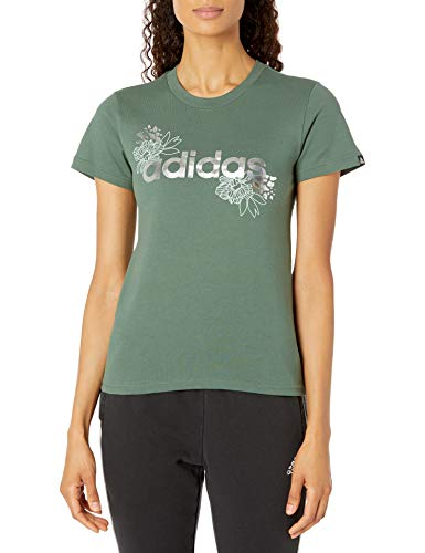 adidas Women's Foil Linear Graphic Tee