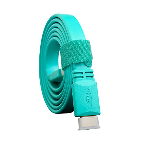 LENTION Colorful High Speed HDMI to HDMI Cable 4.9 Feet (1.5 Meter) Support 3D Ethernet TV Audio Video Blue